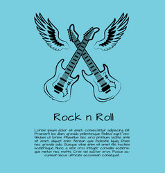 Rock and roll music poster vector