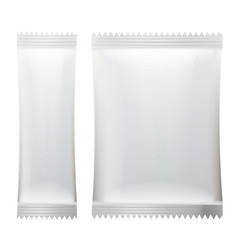 Sachet white empty clean blank of stick vector