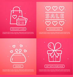sale of valentine day vector image