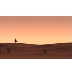 Silhouette of hill flat vector