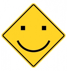 smiley sign vector image
