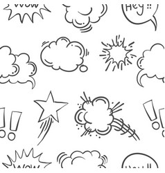 Text balloon hand draw doodle pattern style vector