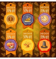 Thanksgiving sale offer design template vector image
