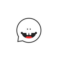 Thin line childish speech therapist logo vector