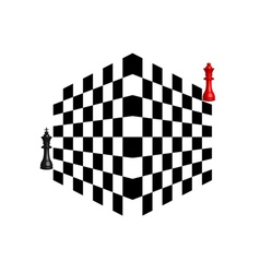 Two chess pieces vector