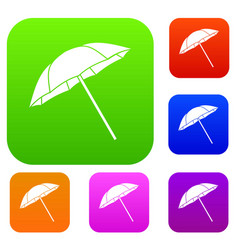 umbrella set collection vector image