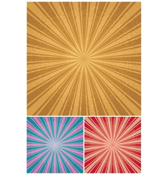 vintage radial background vector image vector image