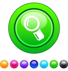Zoom circle button vector image