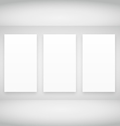 empty frames in white room vector image