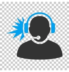 Operator headphones signal icon vector