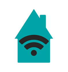 wifi house flat vector image