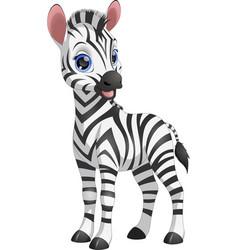 Cute funny zebra vector