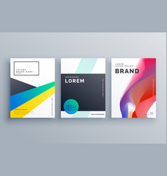 Creative business branding design with three vector