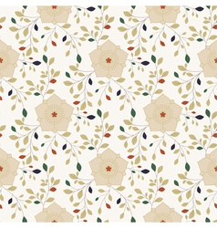 Colorful oriental flower seamless pattern vector