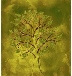 grunge floral tree vector image