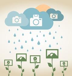 Rain photo vector image