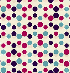 Vintage circle seamless pattern vector