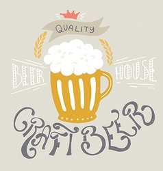Craft beer vector
