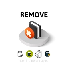 Remove icon in different style vector