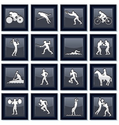Olympiad sport icons vector