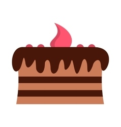 Chocolate cake icon vector