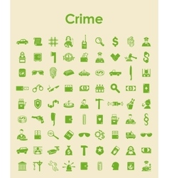 Set of crime simple icons vector