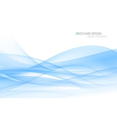 Abstract blue waves vector image