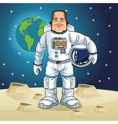 Astronaut space cartoon design vector image vector image