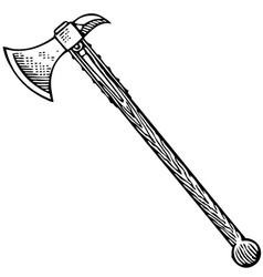 battle axe vector image