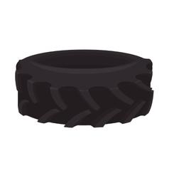 black wheel tire transportation icon vector image