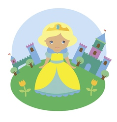 Blonde princess character vector image