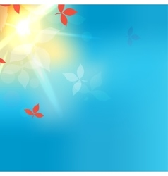 Blurred autumn blue abstract background vector