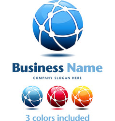 Business Technology Logo 3 colors vector image