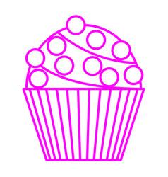 chocoball cupcake vector image vector image