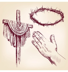 Christianity collection isolated hand drawn vector