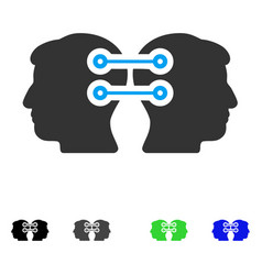 Dual heads interface connection flat icon vector