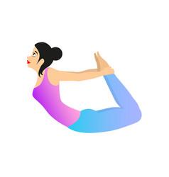 female yoga practice vector image vector image