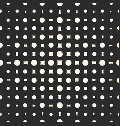 geometric halftone pattern with circles vector image
