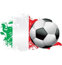 Italy soccer grunge vector
