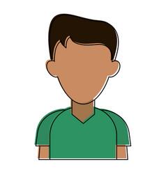 Man avatar cartoon vector