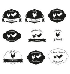 Meat chicken labels and logo vector