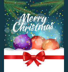 merry christmas and happy new year party vector image vector image