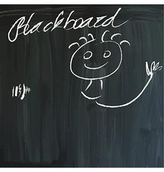 Message on a blackboard vector