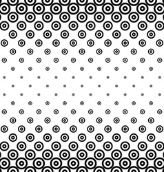 Monochrome horizontal repeating circle pattern vector
