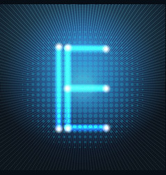 neon letter capital alphabet text lettering vector image vector image