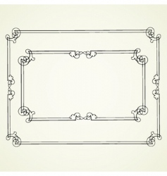 ornate borders vector image vector image