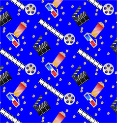 Pattern cinema vector image vector image