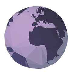 Polygon Earth vector image vector image