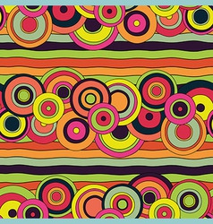 psychedelic circles pattern vector image vector image