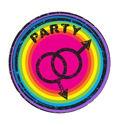 queer party vector image vector image